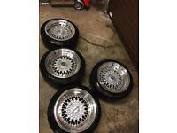 4 BBS Replica 4X100 & 4X108 Multi Alloys with tires