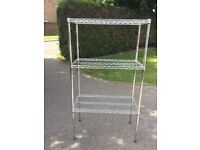 Chrome shelving, basket units.Excellent condition.