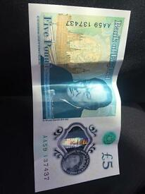 5 pounds note