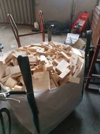 large bag of dry timber