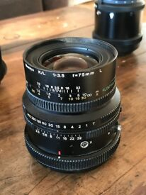 """Mamiya K/L 75MM F3.5 """"L"""" Lens with Floating Element for all Mamiya RB/RZ 67 for sale"""