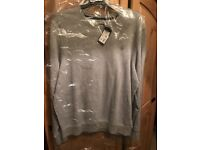 Men's g star jumper grey new with tags