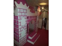 Stunning hand made princess castle bunk bed