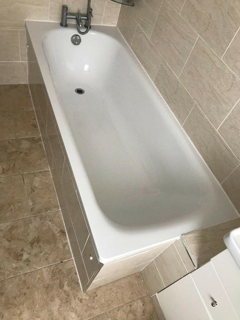 B&Q Cooke & Lewis Steel Bath Tub With Legs - quick sale!!! | in ...
