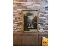 Gold Gilded frame waterfall picture