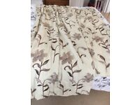Fully lined professionally made curtains x 2