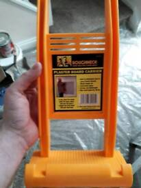 Roughneck plasterboard/sheet material lifter