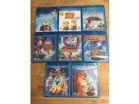 Children's Blu-Ray DVD's inc. Frozen