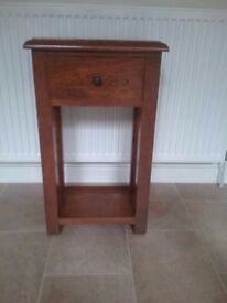 Small hall table with drawer.