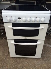 £122.99 Indesit ceramic electric cooker+60cm+3! Months warranty for £122.99