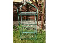 4 Tier Mini Greenhouse Frame No PVC Cover Frame shows signs rusting 1 Missing Wheel Upcycle Project