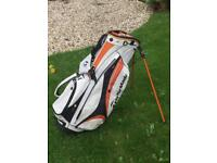 Lightweight golf bag with integrated stand