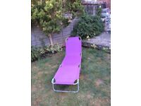 Sun Lounger and 2 Small Garden Chairs