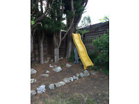 2 metres yellow outdoor slide