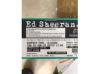 2 x Ed Sheeran Tickets (Standing) for Sale - Glasgow
