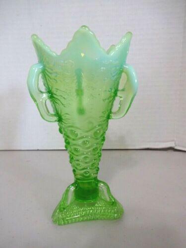 EAPG Jefferson Green Opalescent 3 Feet Vase