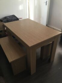 Table and 2 Benches