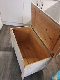 Wooden storage ottoman