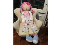 Emily Button Rag Doll (large - approx 70cm tall)