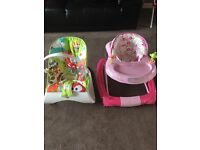 Vibrating Bouncy chair and baby walker