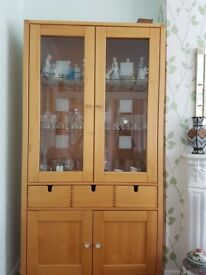 Beautiful wall cabinet, display, 3 drawers and cupboard