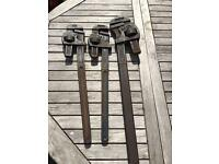 Stilson Record Pipe Wrenches x 3