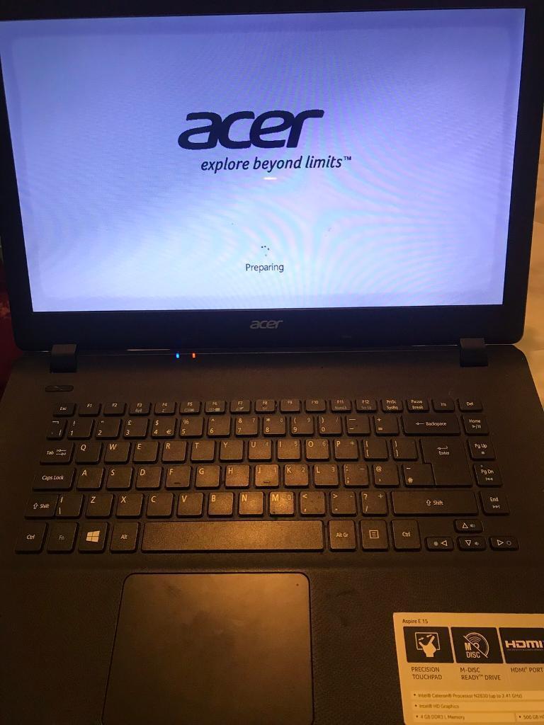 how to reset acer aspire e 15 laptop