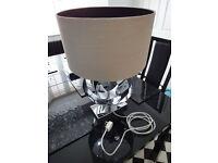 BHS Chrome table lamp quality heavy