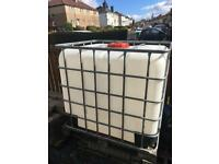1000 LITRE CAGED CUBE IDEAL FOR VALETING ETC £40