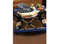 MyChild Car 2 In 1 Baby Walker - Blue