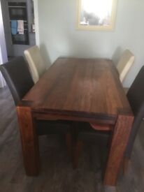 Oak dining table 6 ft x 3 ft