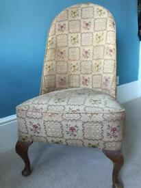 Upholstered low chair Queen Ann