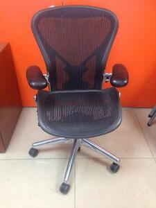Herman Miller Aeron Chairs Fully Loaded with chrome base