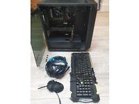 Custom Gaming PC + Keyboard, Mouse & Headset - NVIDIA GTX 1080i - i7-7700K Quad Core 4.5GHz