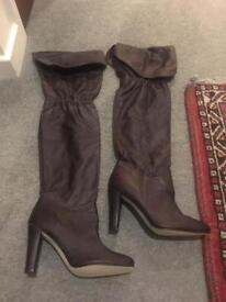 Reiss Brown leather boots