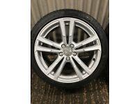 "Genuine 18"" Audi A3 Sport Alloy wheels- 5x112 - will fit VW, Seat, Skoda."