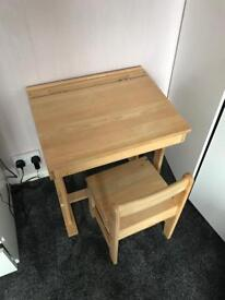 Kids school desk and chair