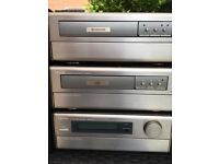 Denon Amplifier Tape Deck CD player and Mission Speakers