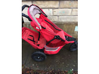 "red ""Phil and Teds"" Double buggy"