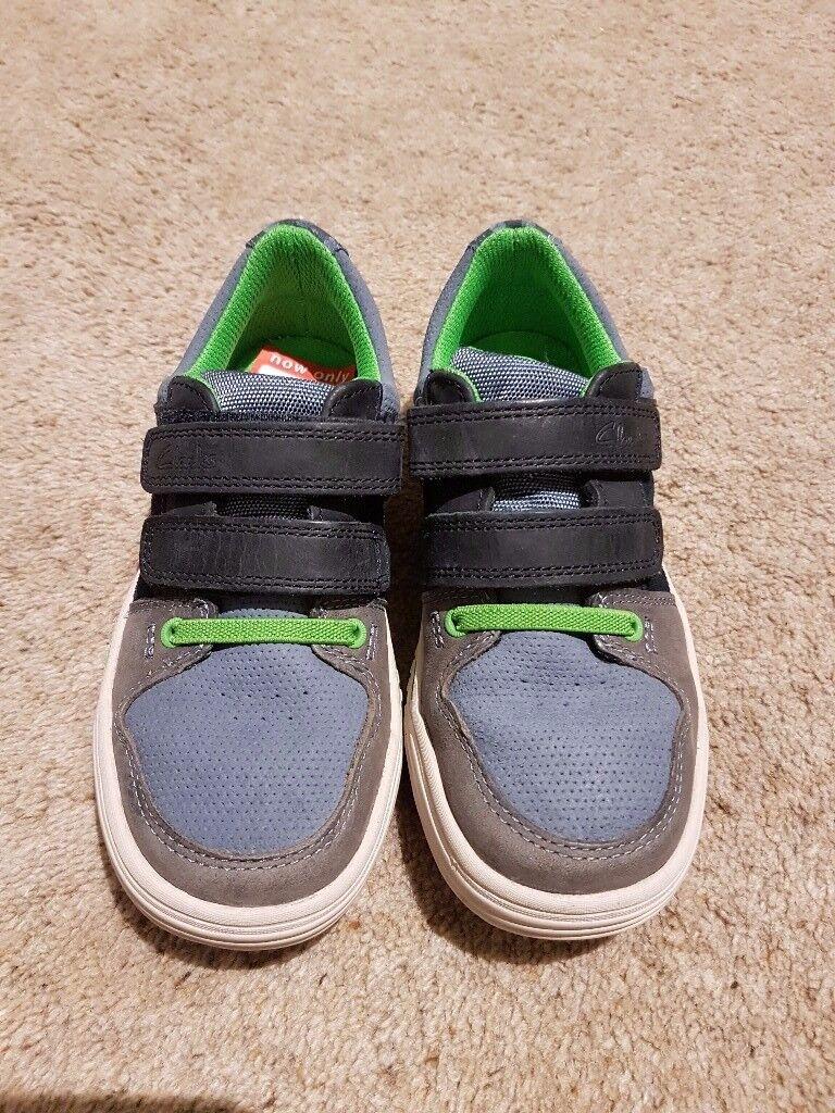 Brand New Boys Clarks shies size 11.5F