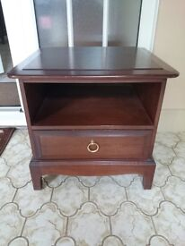 Stag Minstrel Single Drawer Bedside Cabinet Lamp Table, solid mahogany