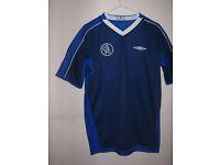 "Unworn Chelsea Football Shirt- suit boy or girl- 32"" chest- Blue"