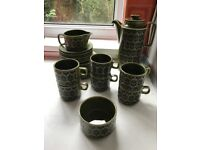 1970s green Hornsea coffee set