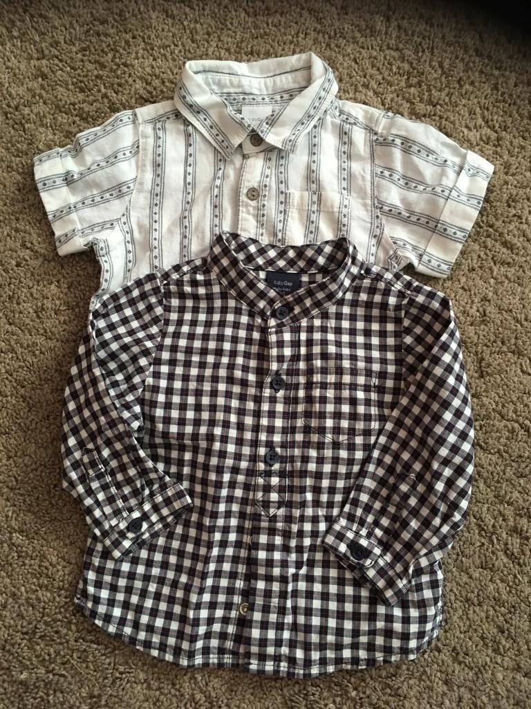 850e56f25 2 x baby gap shirts age 6-12 months