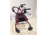 4 wheel walker (rollator)