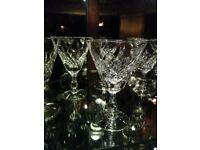 Crystal glasses by Stuart x6