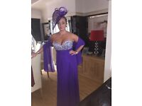 Gorgeous Races/Prom dress worn once paid 260.00 (matching Fascinator available)