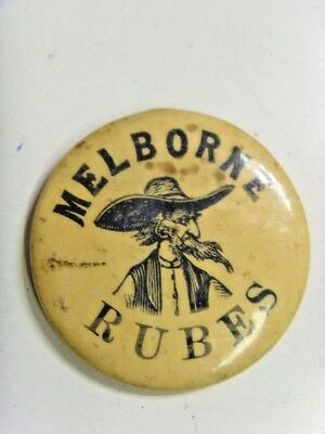 1898 antique Cincinnati celebrity Melborne Rubes large button Wm Helwig 49167