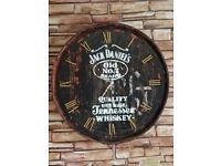 Jack Daniels Oak barrel clock