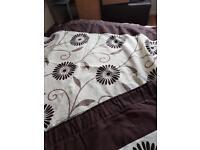 Brown & Cream curtains 90x90
